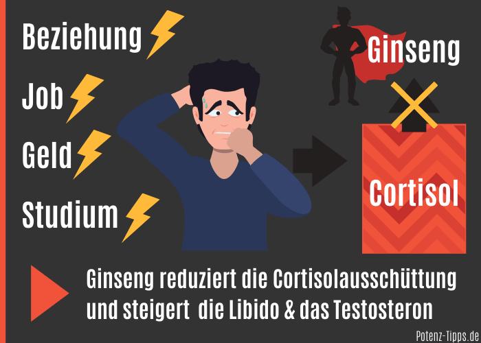 Ginseng reduziert Stress & Cortisol
