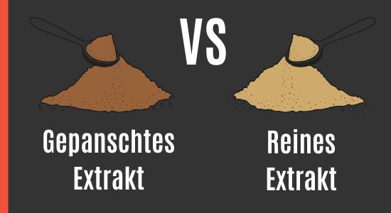 Hochwertiges Tongkat Ali vs gepanschtes Extrakt