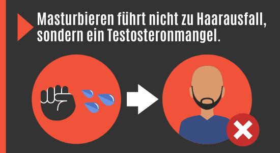 Masturbieren führt nicht zu Haarausfall sondern Testosteronmangel