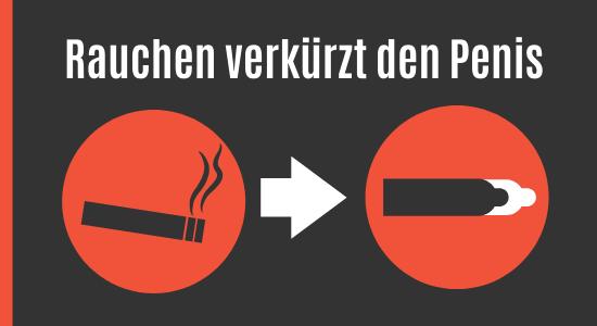 Rauchen verkürzt die Penislänge
