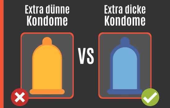 Dünne Kondome vs. Dicke Kondome