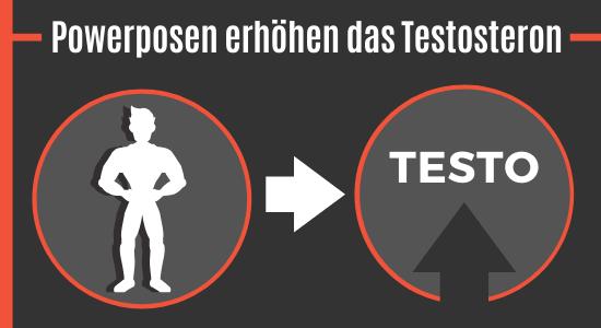 Powerposen erhöhen das Testosteron