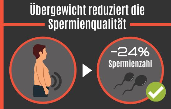 Übergewicht reduziert die Spermienzahl
