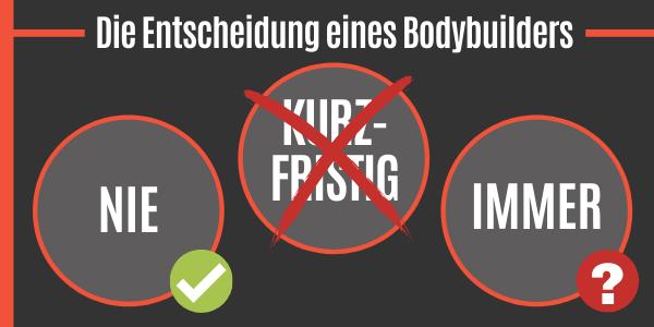Entscheidung eines Bodybuilders zur Testosteron-Kur