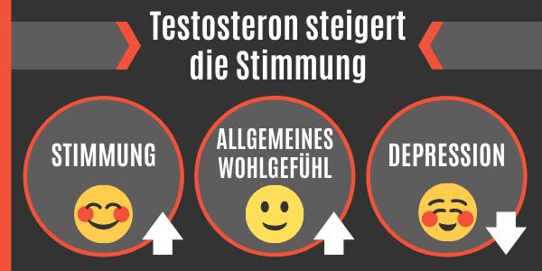 Testosteron steigert die Stimmung