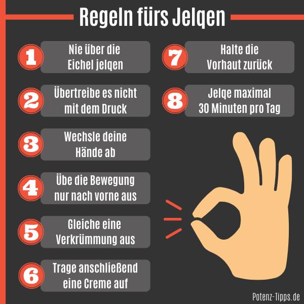 Regeln für Jelqing Übungen