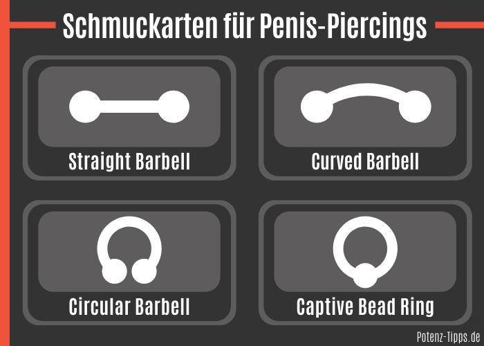Schmuckarten für Penis-Piercings