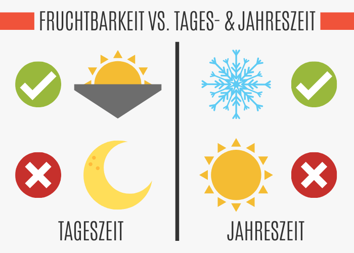 FRUCHTBARKEIT VS. TAGESZEIT UND JAHRESZEIT