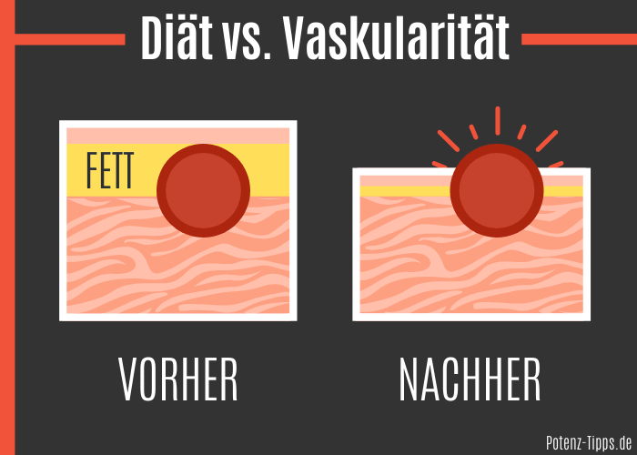 Körperfettanteil vs. Vaskularität