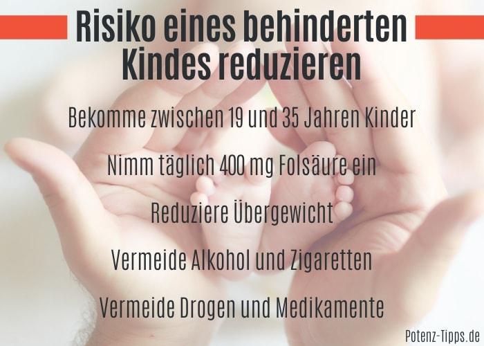Risiko eines behinderten Kindes reduzieren