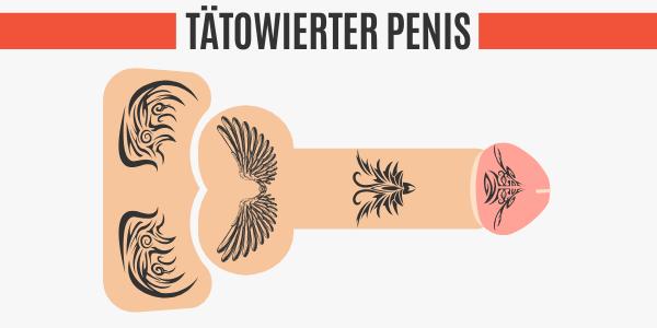 Tätowierter Penis