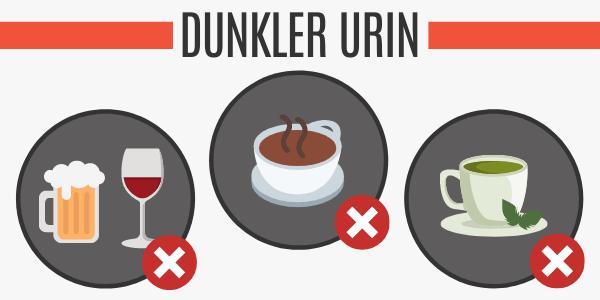 Dunkler Urin durch Diuretika