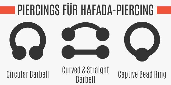 Piercings für Hafada-Piercing