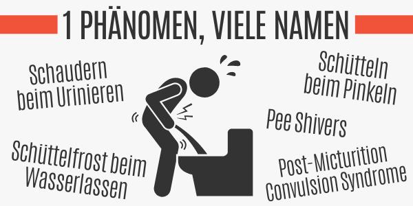 Schaudern beim Urinieren hat viele Namen