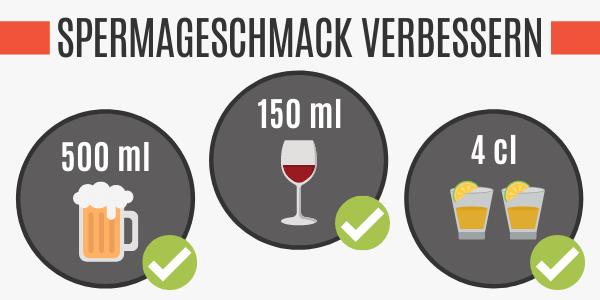 Spermageschmack vs. Alkohol