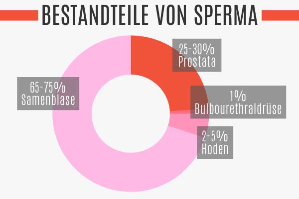 Bestandteile von Sperma