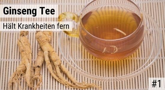 Ginseng Tee hält Krankheiten fern