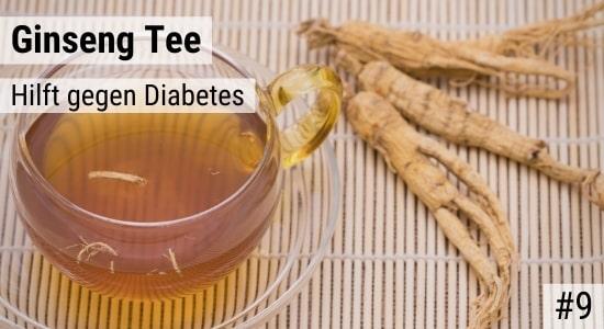 Ginseng Tee hilft gegen Diabetes