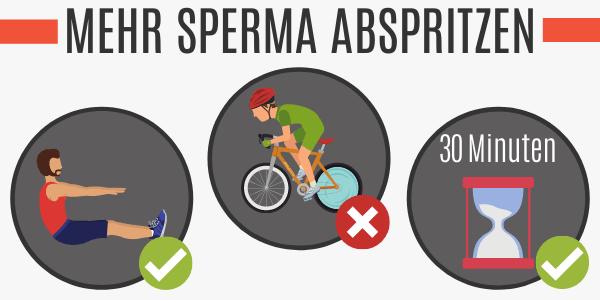 Mehr Sperma abspritzen durch Sport