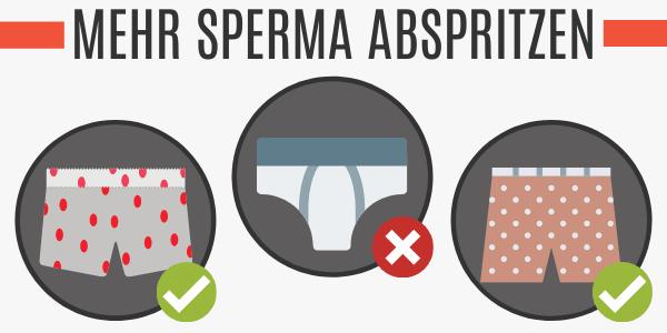 Mehr Sperma abspritzen mit weiten Boxershorts