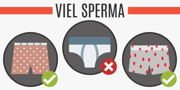 Viel Sperma durch weite Boxershorts
