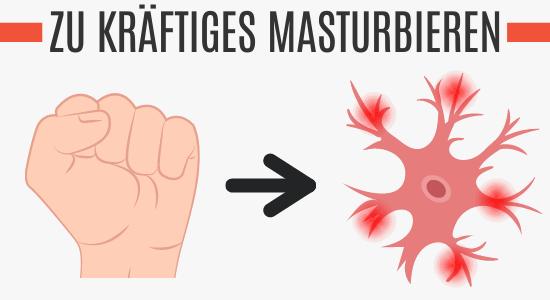 Zu kräftiges Masturbieren führt zu Nervenschäden